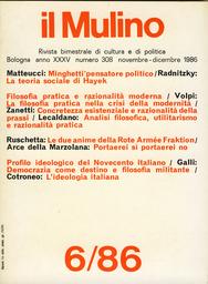Copertina del fascicolo dell'articolo Ordine ed evoluzione nella teoria sociale di Hayek