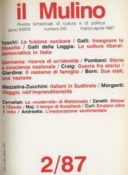 Copertina del fascicolo dell'articolo Koselleck. Tempo storico e memoria linguistica