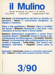 Copertina del fascicolo dell'articolo Jonas: l'etica della responsabilità