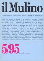 Copertina del fascicolo dell'articolo L'interesse nazionale e il disinteresse europeo
