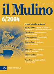 Copertina del fascicolo dell'articolo Il sindacato