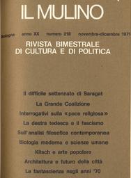Copertina del fascicolo dell'articolo Alcune tendenze dell'analisi filosofica contemporanea