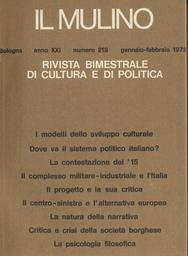 Copertina del fascicolo dell'articolo Dove va il sistema politico italiano? Un dibattito redazionale