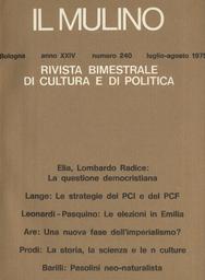 Copertina del fascicolo dell'articolo La politica delle alleanze del PCI e del PCF