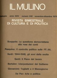 Copertina del fascicolo dell'articolo Arte e politica