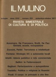 Copertina del fascicolo dell'articolo Proposte di rinnovamento dell'azione pubblica sulla rete commerciale