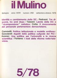 Copertina del fascicolo dell'articolo Una politica per l'Università e la ricerca scientifica
