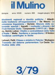 Copertina del fascicolo dell'articolo Tendenze centrifughe in Sicilia