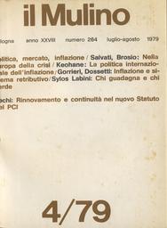 Copertina del fascicolo dell'articolo Inflazione e sistema retributivo