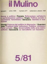 Copertina del fascicolo dell'articolo Tentazioni restauratrici e tentazioni sindacali nella professione militare